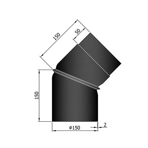 シングル煙突フレックス45°