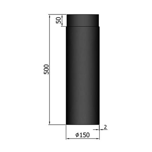 シングル煙突500mm