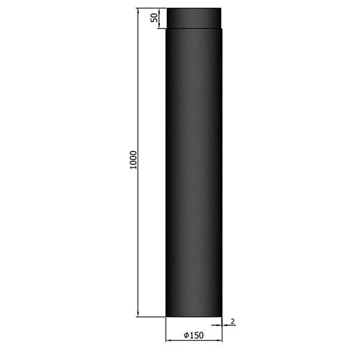 シングル煙突1000mm