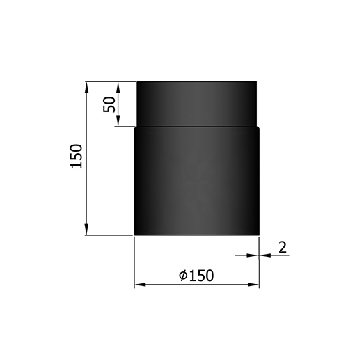 シングル煙突150mm