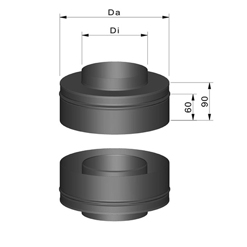 異口径接続アダプタ(T型煙突用)
