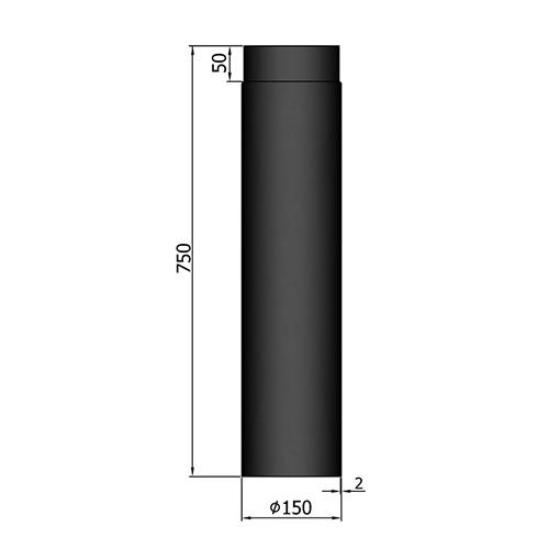 シングル煙突750mm