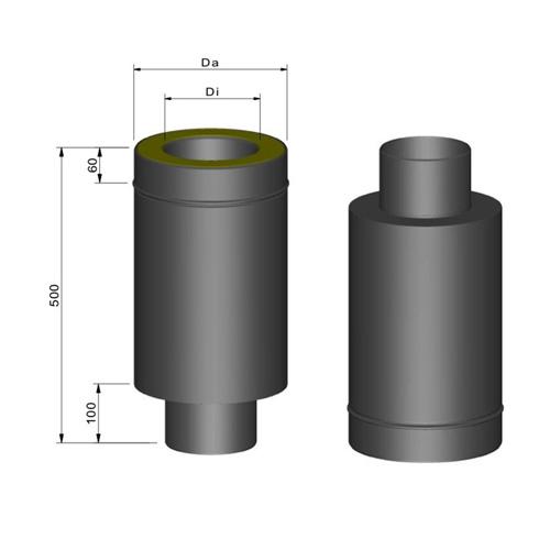 断熱二重煙突スタート400mm
