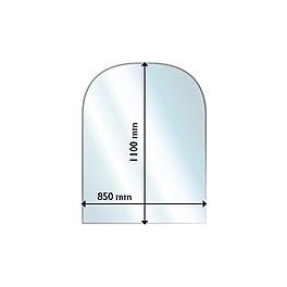 ガラスフロアプレート半円形