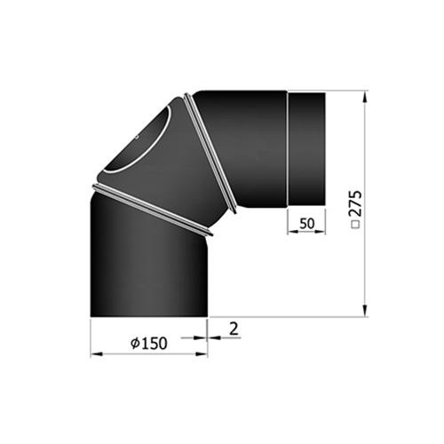シングル煙突フレックス90°