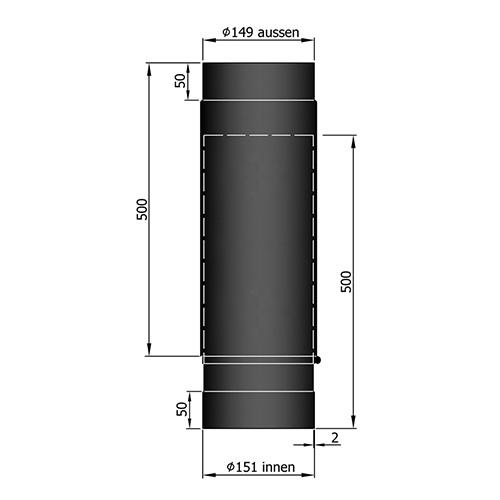 シングル煙突スライド500-800mm