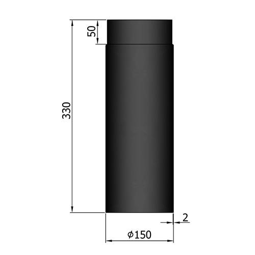 シングル煙突330mm