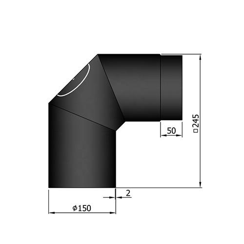 シングル煙突2×45°(点検口付)