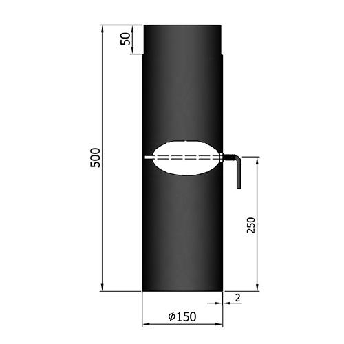 シングル煙突ダンパー500mm