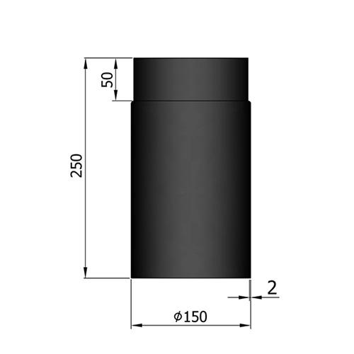 シングル煙突250mm