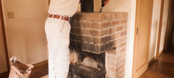 滋賀県大津市で暖炉用煙突の掃除