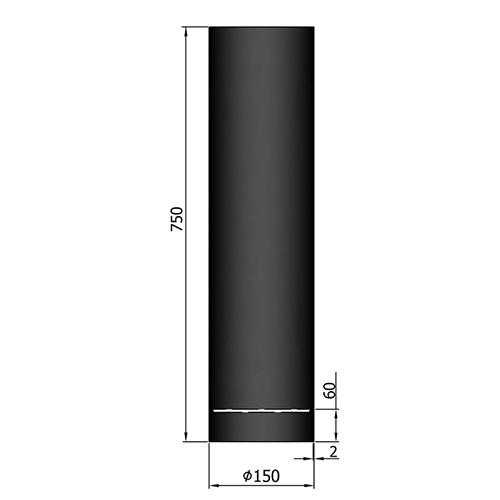 シングル煙突口元750mm