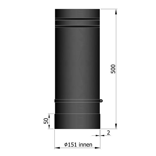 シングル煙突スライドインナー500mm