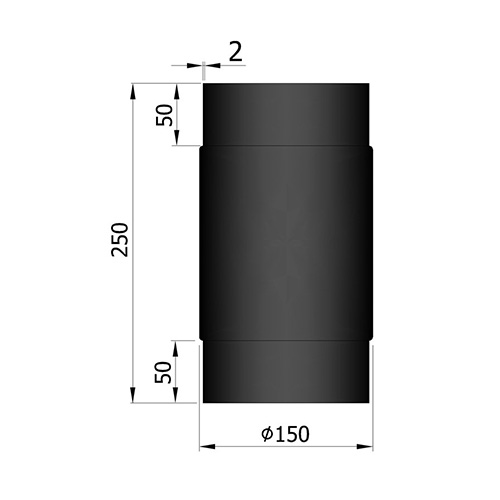 シングル煙突250mm(オスーオス)