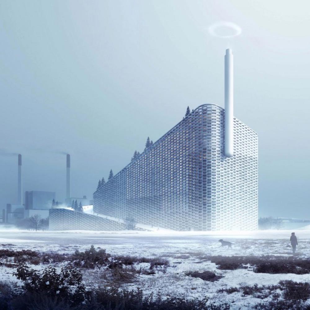 デンマークのゴミ処理場