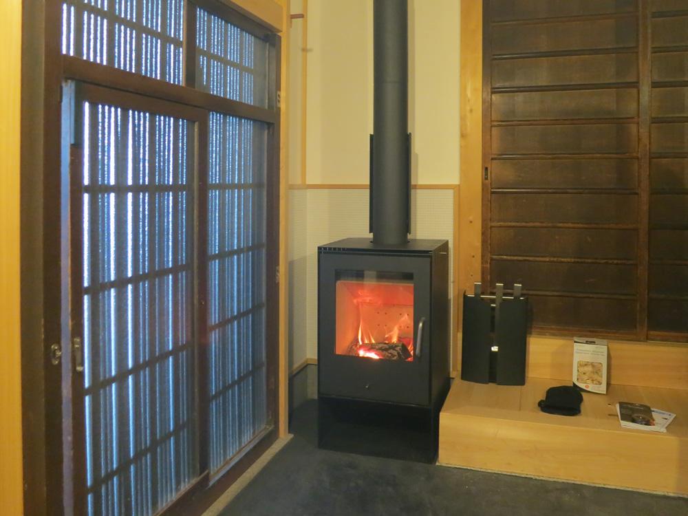 京都で薪ストーブ設置