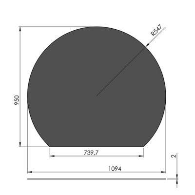 スチールフロアプレート円形