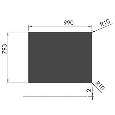 スチールフロアプレート四角形
