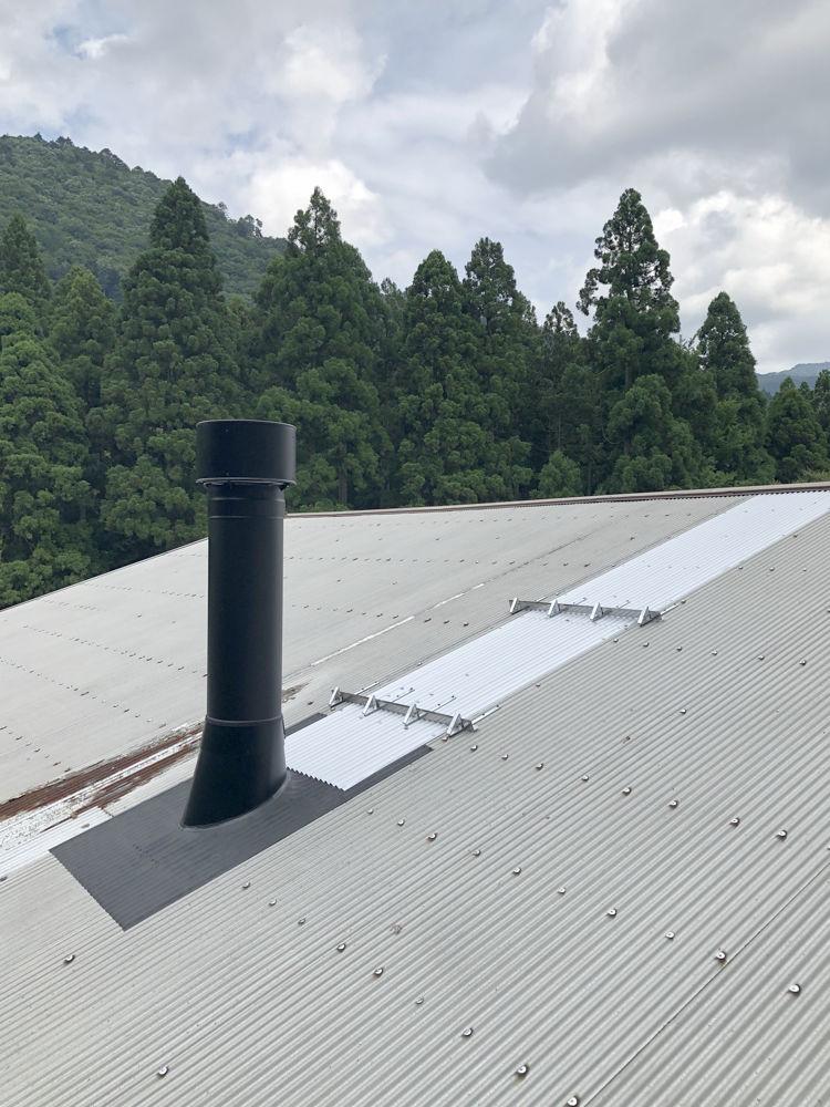 煙突屋根抜き